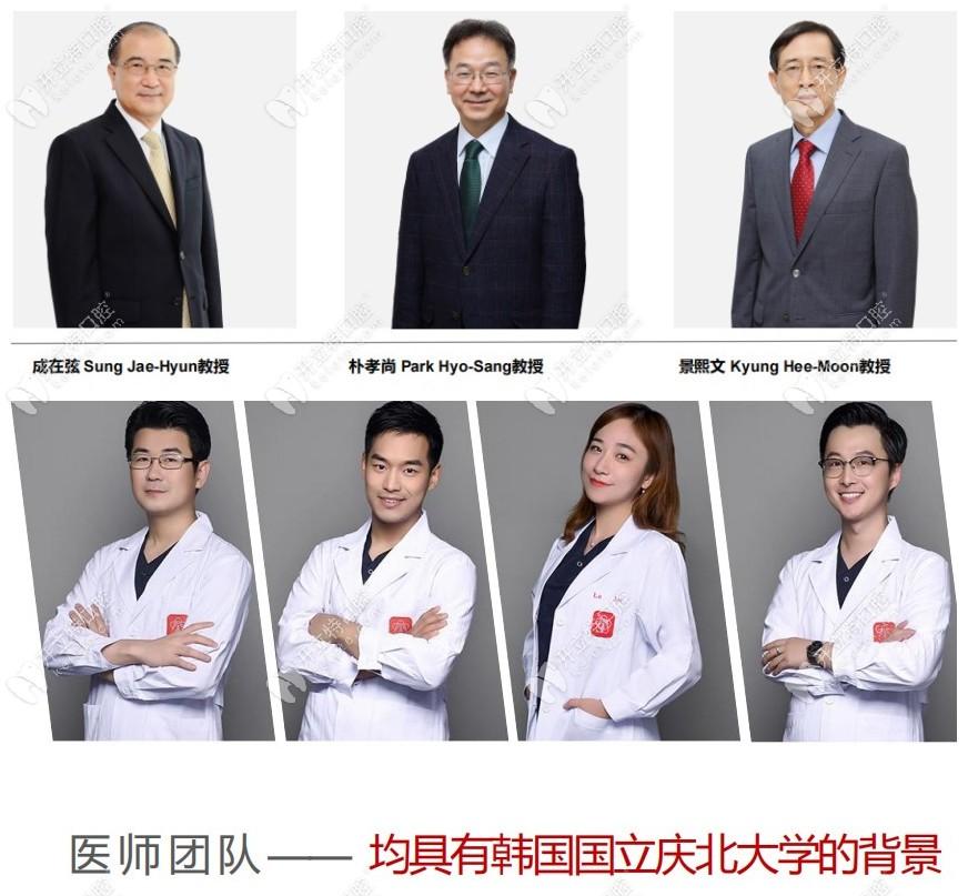 庆北米亚口腔海外医生团队成员