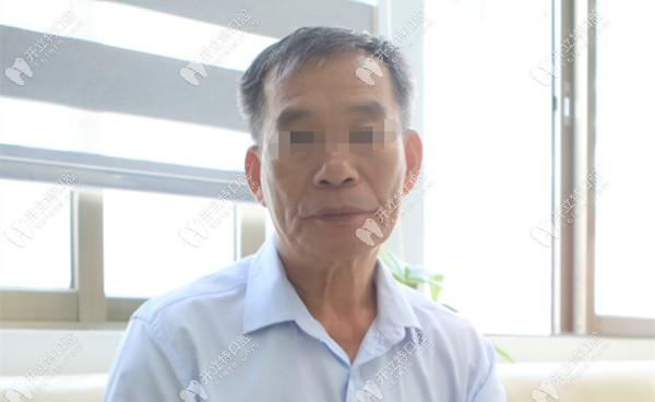 67岁欧叔在广大口腔用高龄精准种技术解决了下半口缺牙问题