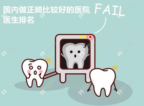 国内做牙齿正畸较好的医院和医生排名及矫正报价,悉数奉上